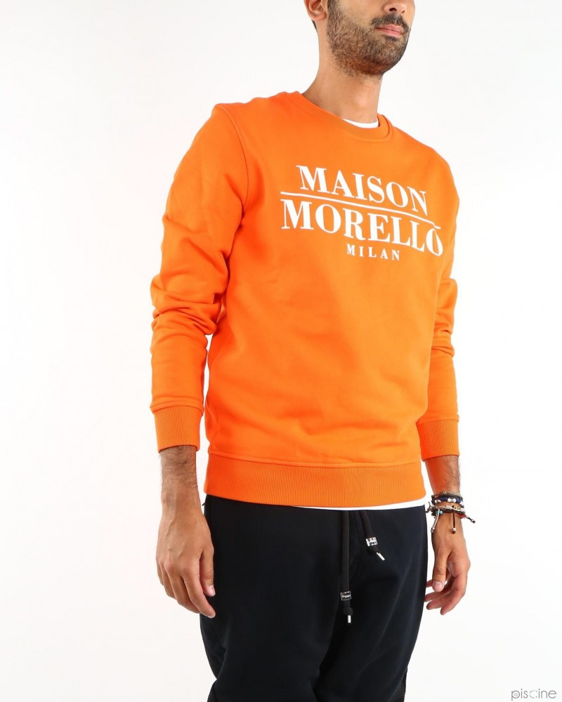 Sweat orange MAISON F. MORELLO