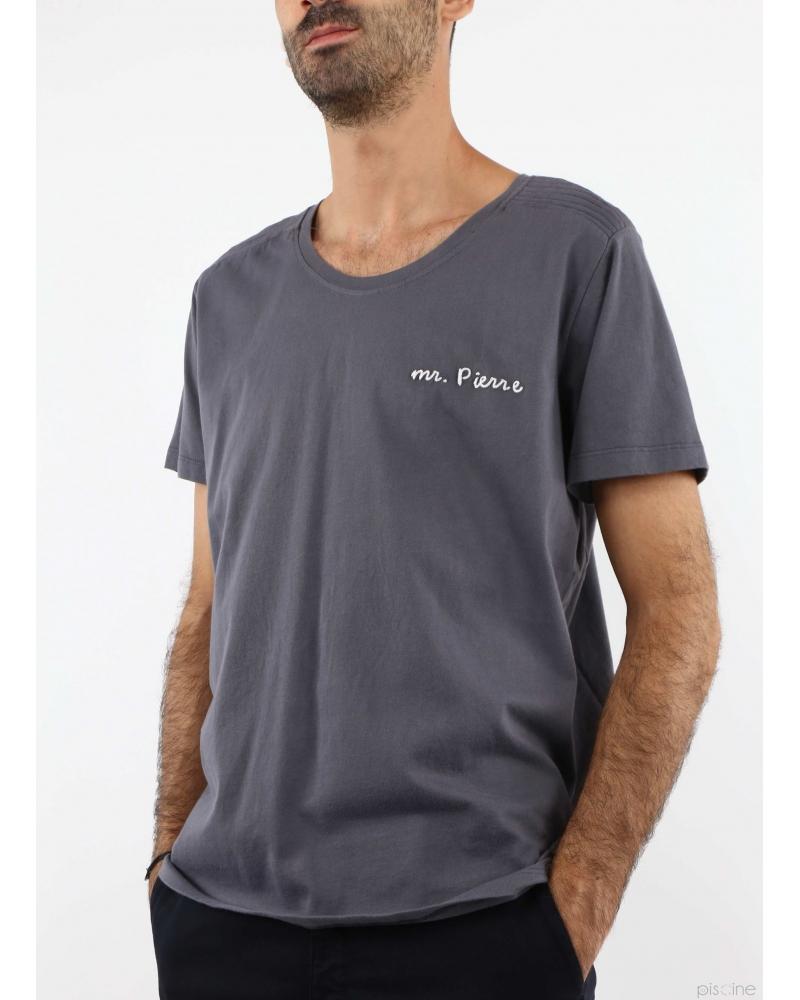 """T-Shirt """"Mr Pierre"""" gris Pierre Balmain"""